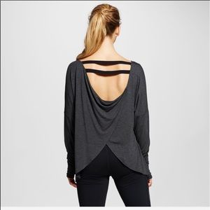 Champion Tulip Open Back Strappy Grey Active Top M